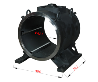 Svařenec kostry statoru elektromotoru materiál ocel S235JR